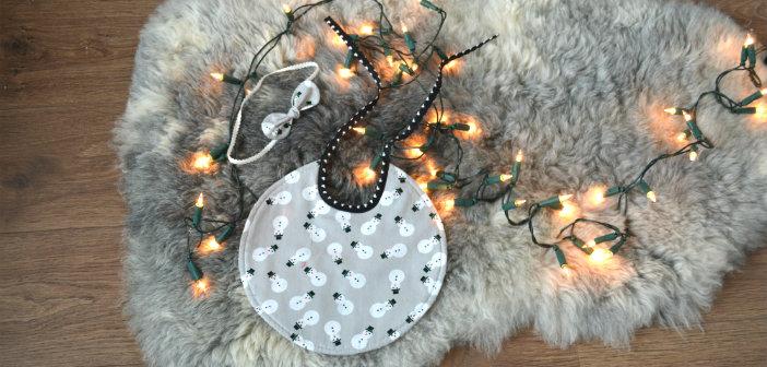 kerstslab baby zelf maken kerst slabbetje