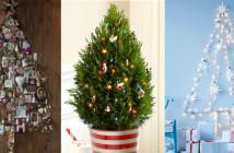 kleine kerstbomen weinig ruimte klein wonen