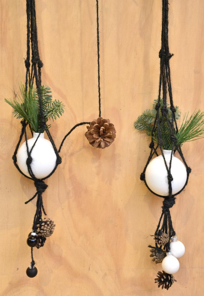 macrame kerst diy hanger maken