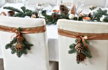 tafel dekken kerst ideeen koper wit landelijk modern