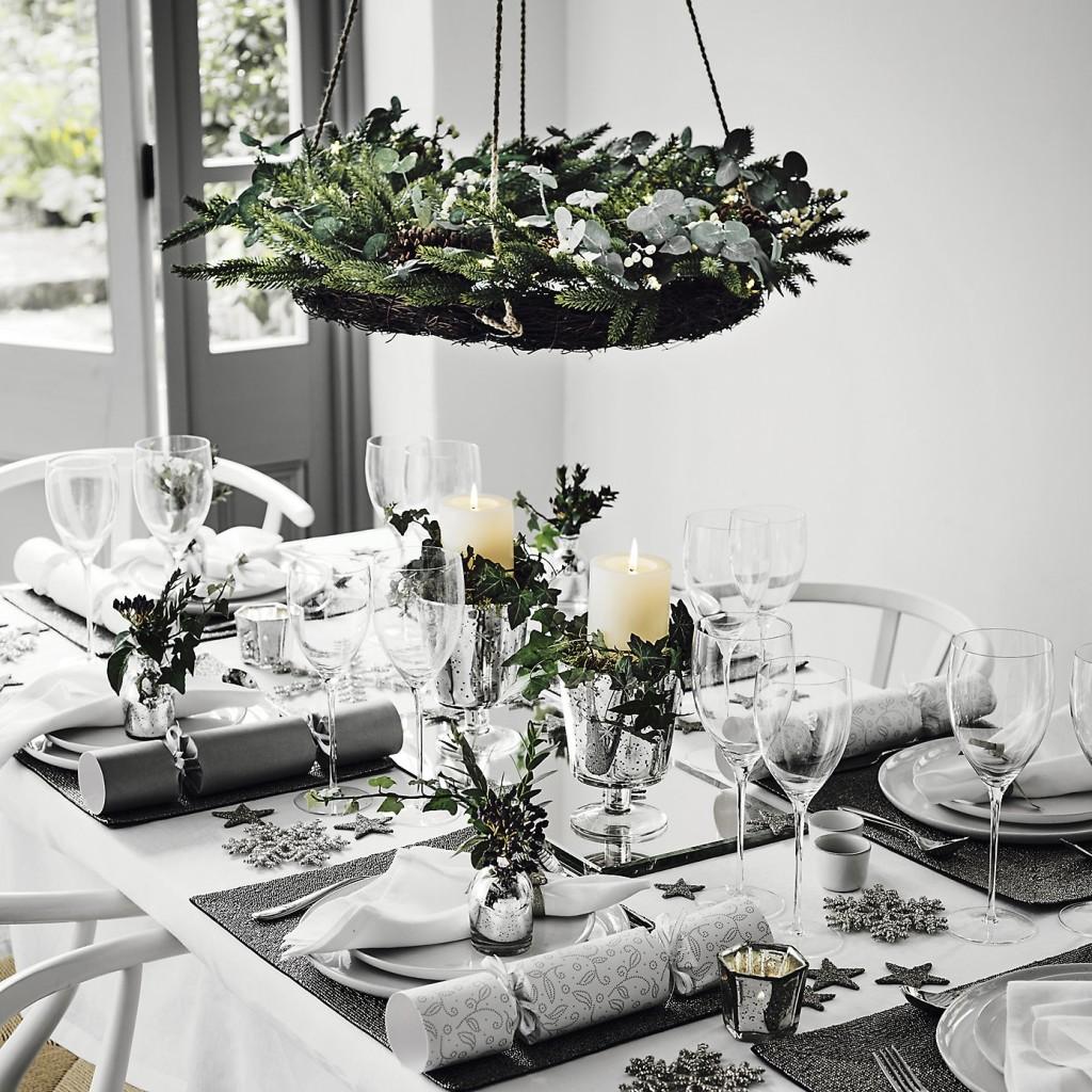 Kersttafel dekken 25 ideetjes voor een feestelijk versierde tafel - Tafel woonkamer van de wereld ...