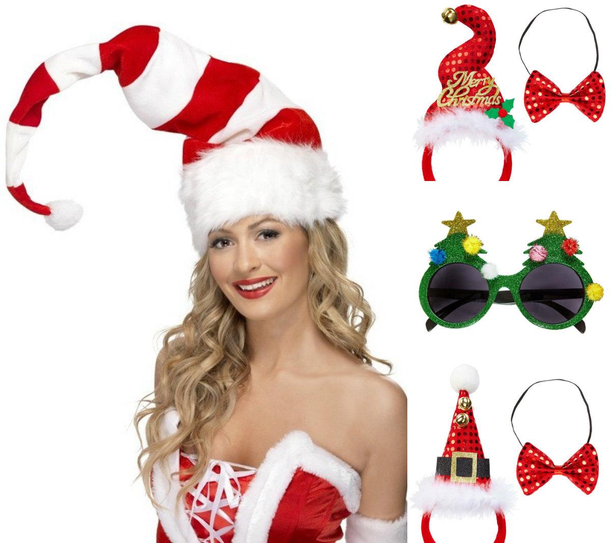 collage kerst accessoires