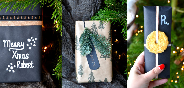 collage kerstcadeautjes inpakken
