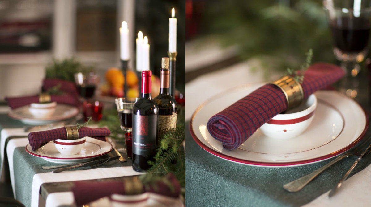 collage lexington christmas table