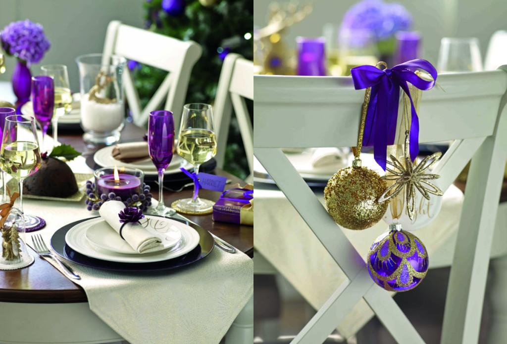 collage tafelschikking paars