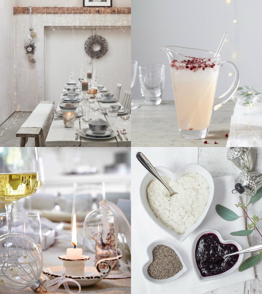 collage wit tafel dekken
