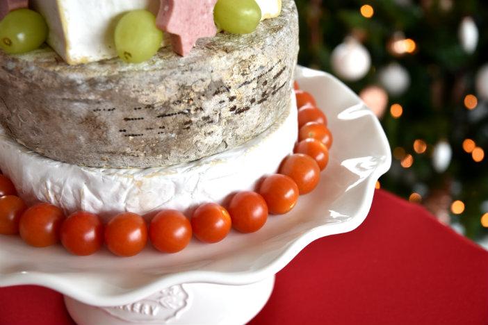 eetbare kerstboom van kaas maken diy