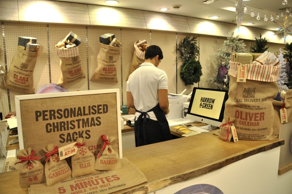 kerstzakken personaliseren
