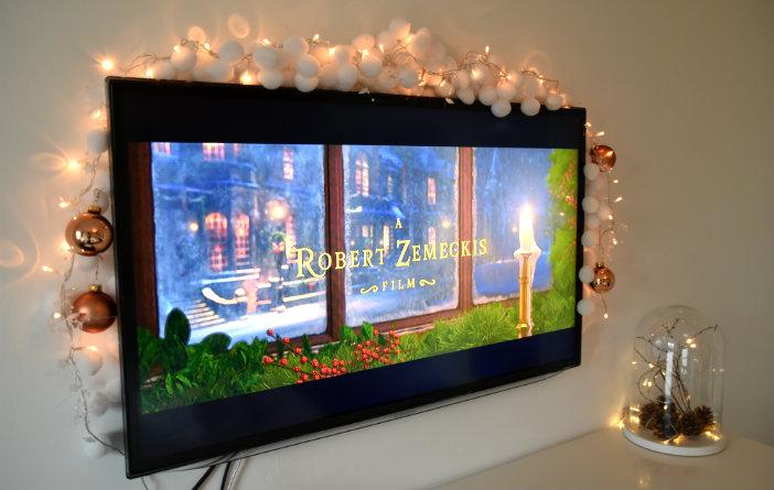 tv versieren voor kerst