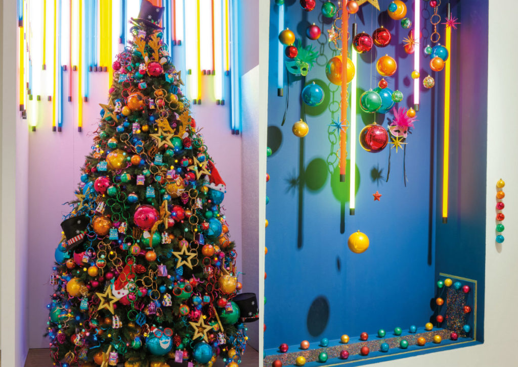 collage colorful christmas kerst trends 2016