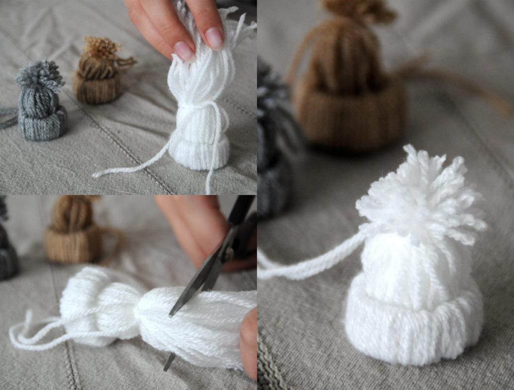 Goedkope kerstdecoratie maken winterse mutsjes diy for Zelf decoratie maken