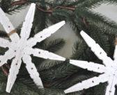 Kerstster maken van wasknijpers