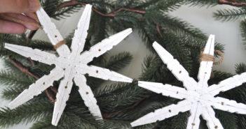 houten kerststerren maken van knijpers