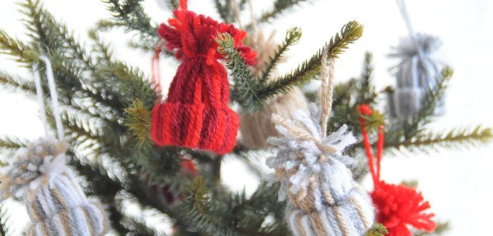 Winterse mutsjes maken voor in de kerstboom