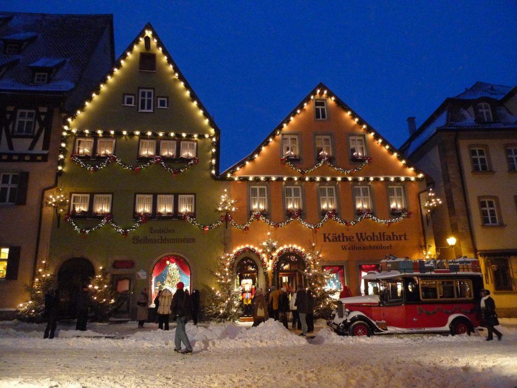 Christmas Village outside winter