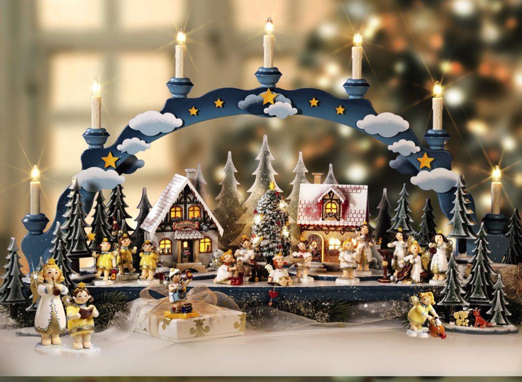 Moderne Schwibbogen met Winter Wonderland tafereel. Foto: Käthe Wohlfahrt