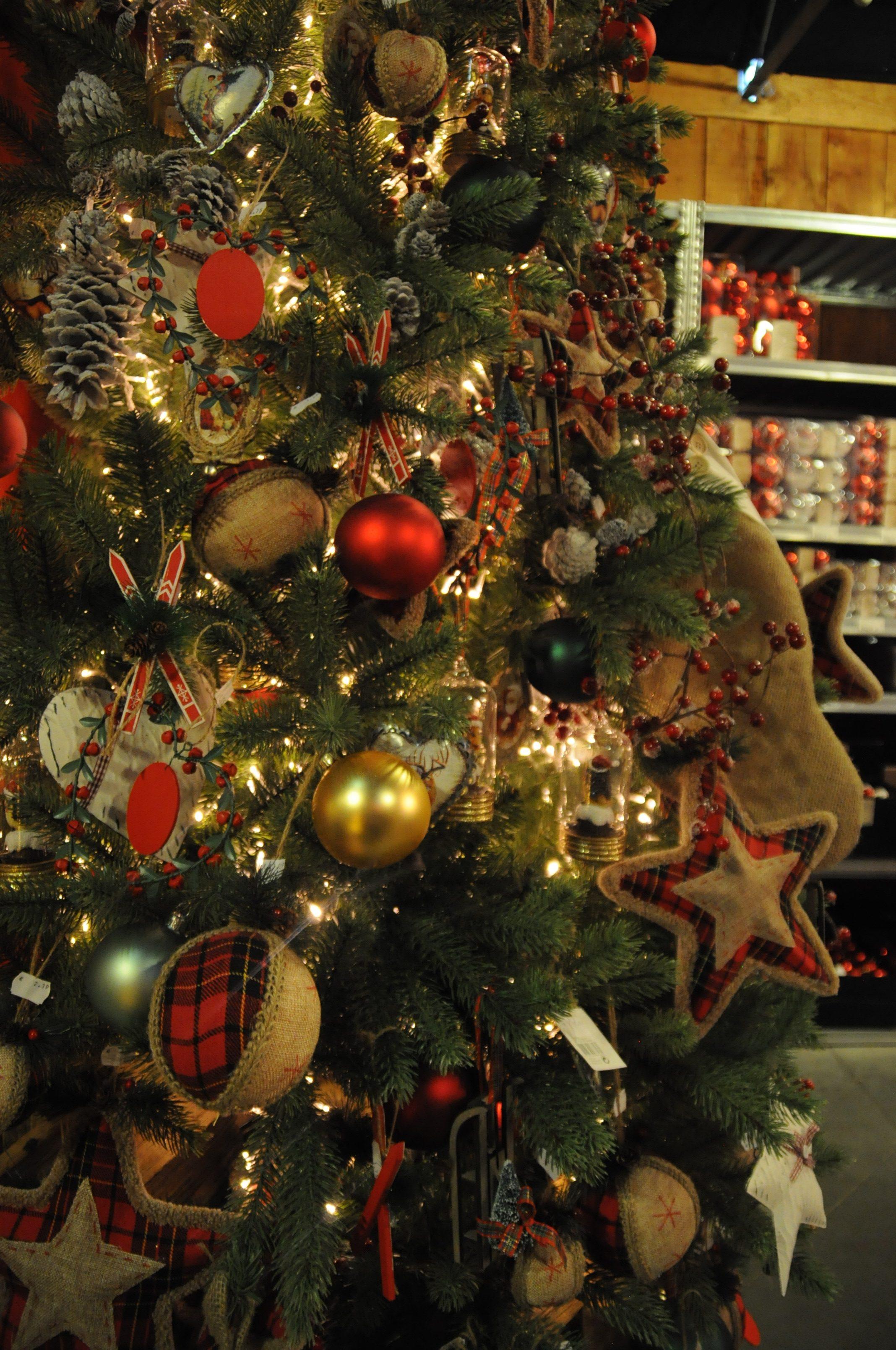 We kerstrood traditionele kerstversiering in je huis - Nostalgische weihnachtskugeln ...