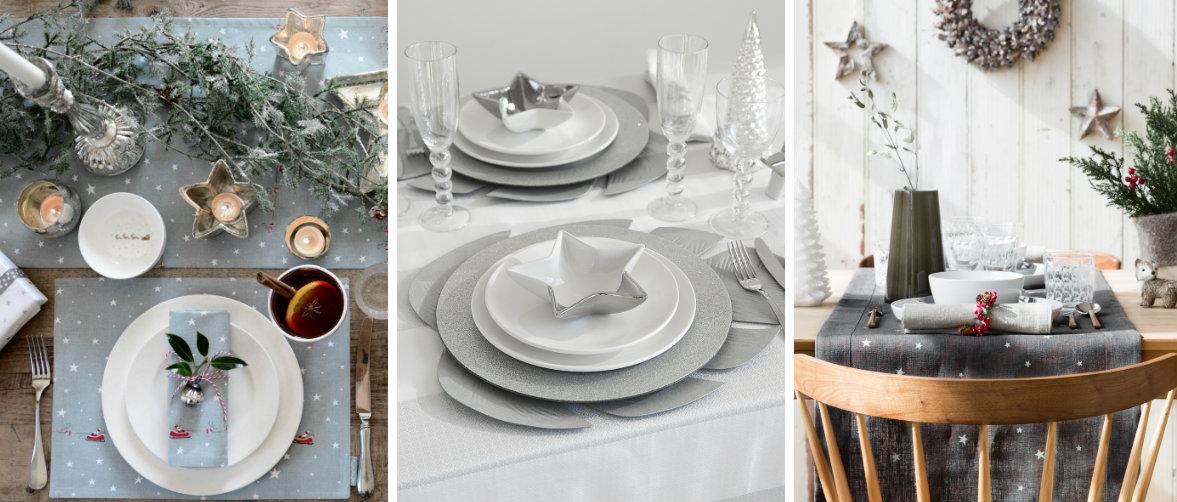Een feestelijke kersttafel met zilver grijs - Feestelijke tafels ...