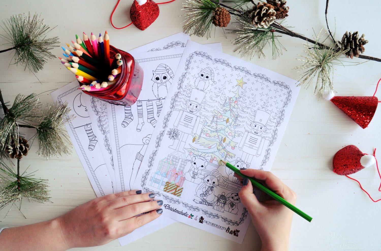 Gratis Kleurplaten Kerstman.Gratis Kerstkleurplaten Voor Volwassenen En Kinderen Christmaholic Nl