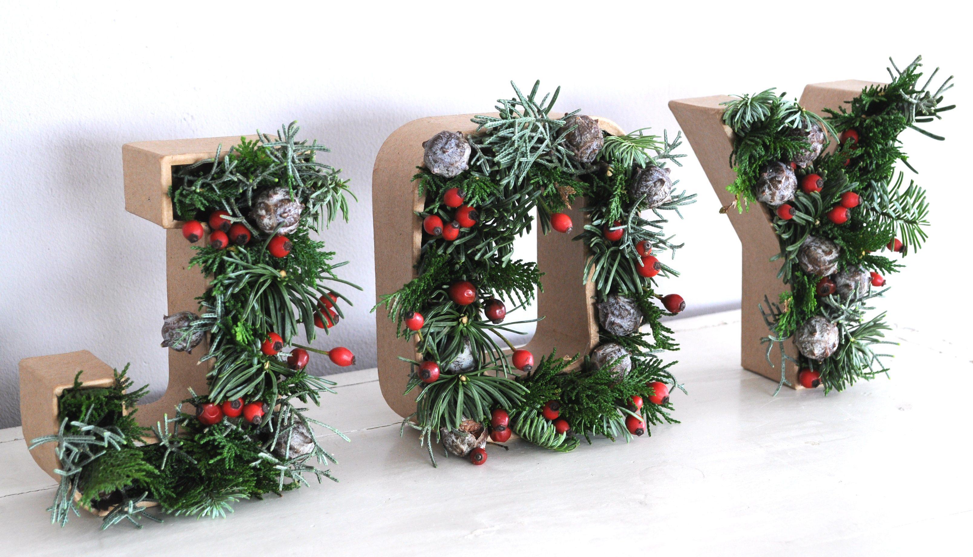 kerstletters-met-kerstgroen-maken