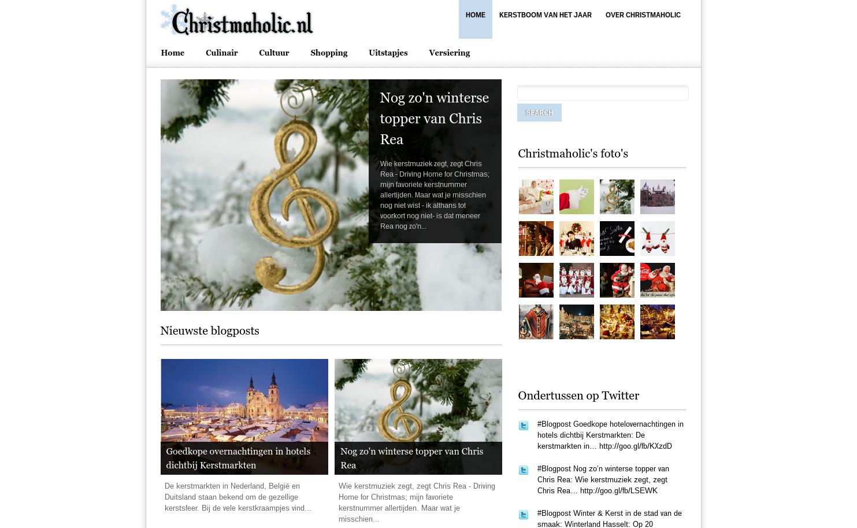 Zo zag de allereerste versie van Christmaholic.nl eruit!