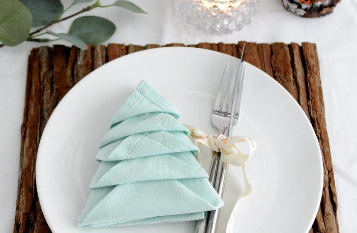 kerstboom vouwen servet