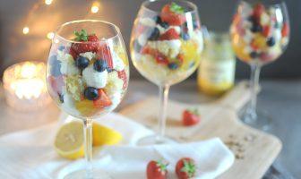 kerst trifle met citroen en mascarpone