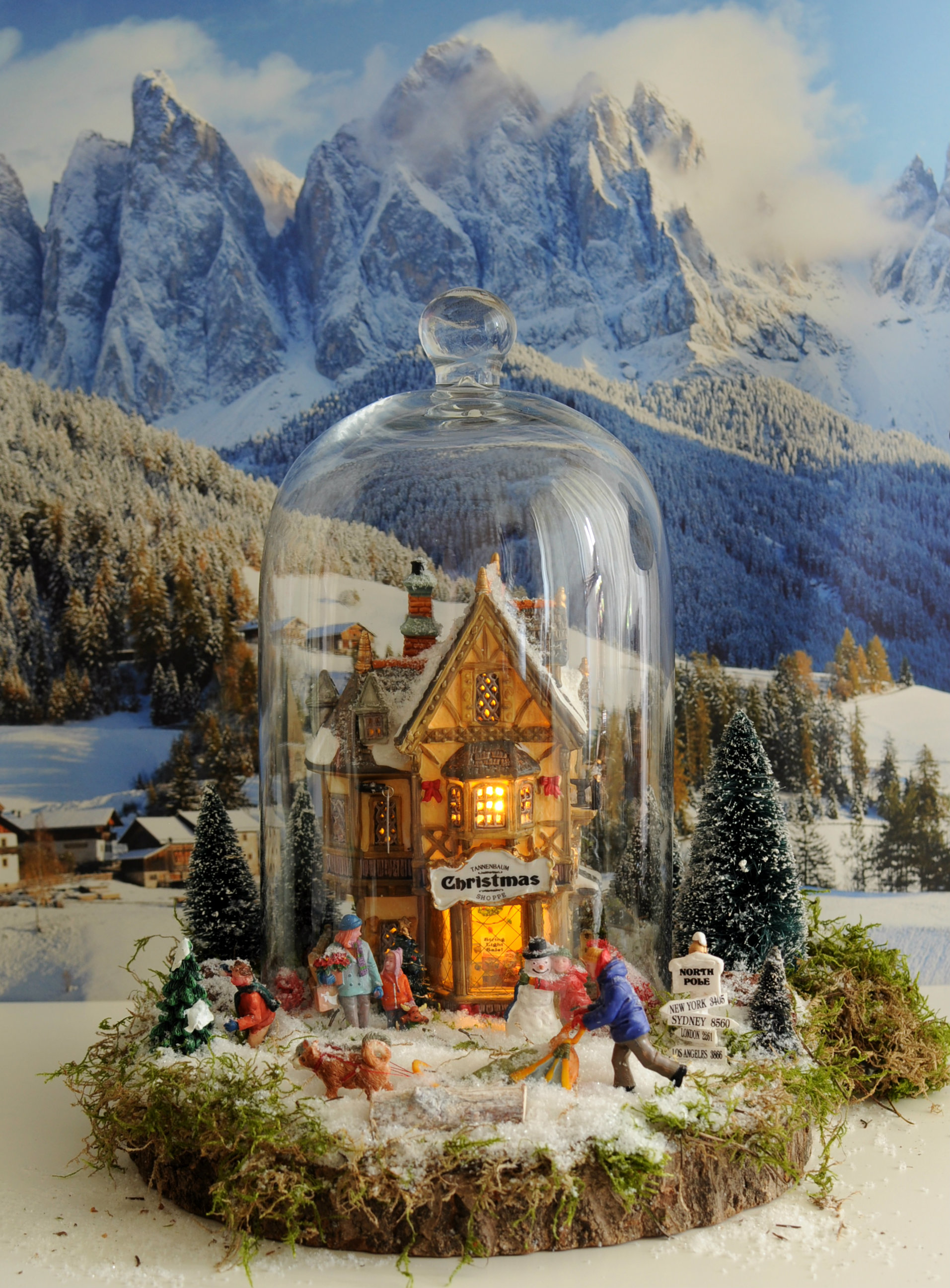 klein kerstdorp in stolp