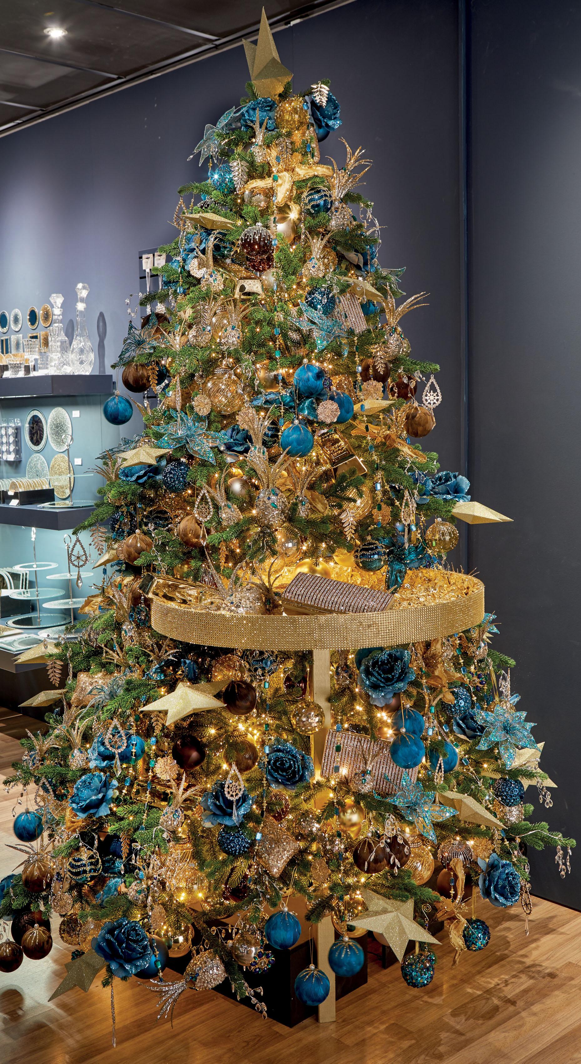 blauw en goud kerst