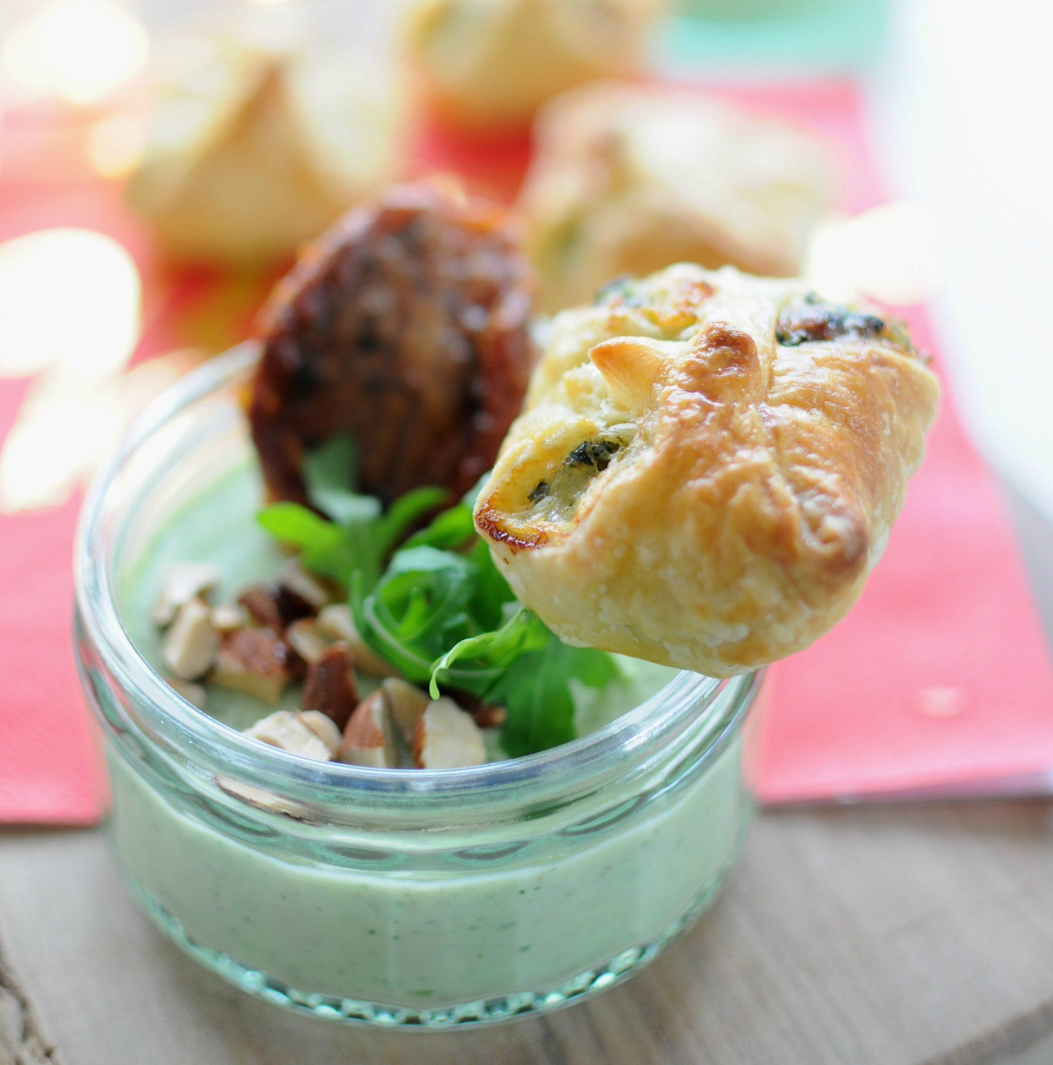 Zeer Vegetarisch voorgerecht kerst: hartige panna cotta met pesto @BN78