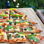 kerstboom pizza