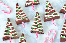 kerstboom brownies met candy canes
