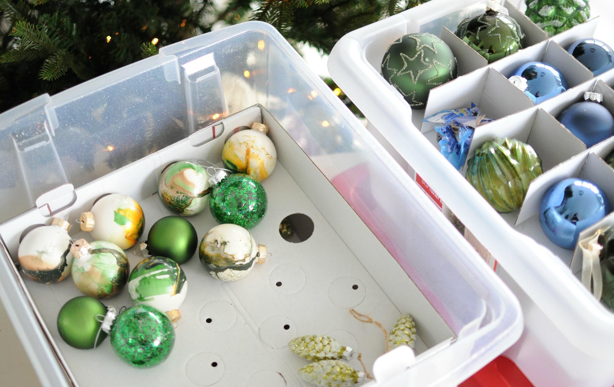 kerstballen opbergen