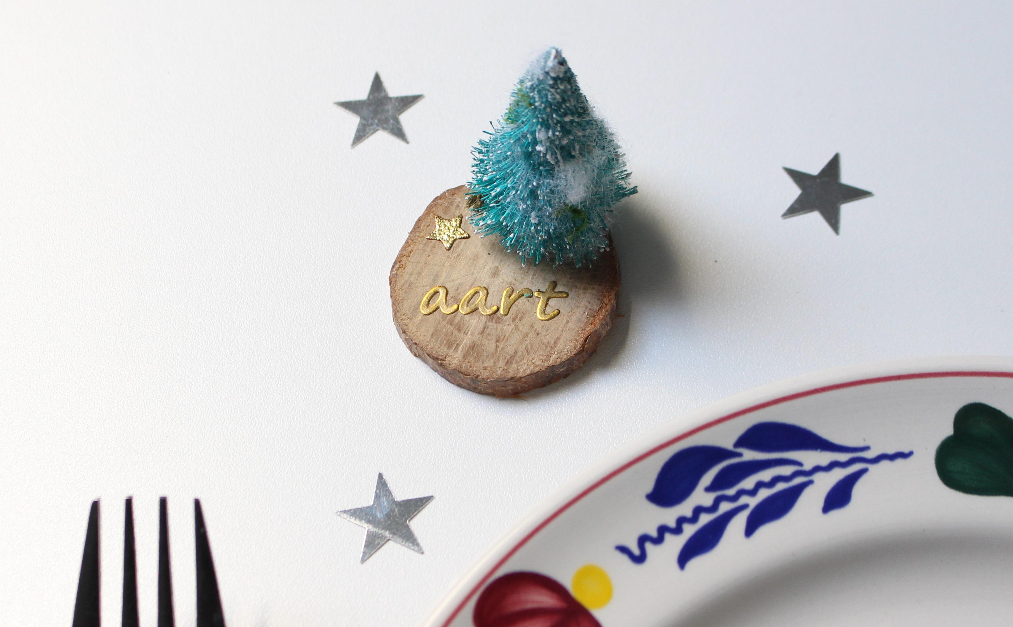 kersthangers van hout maken Christmaholic