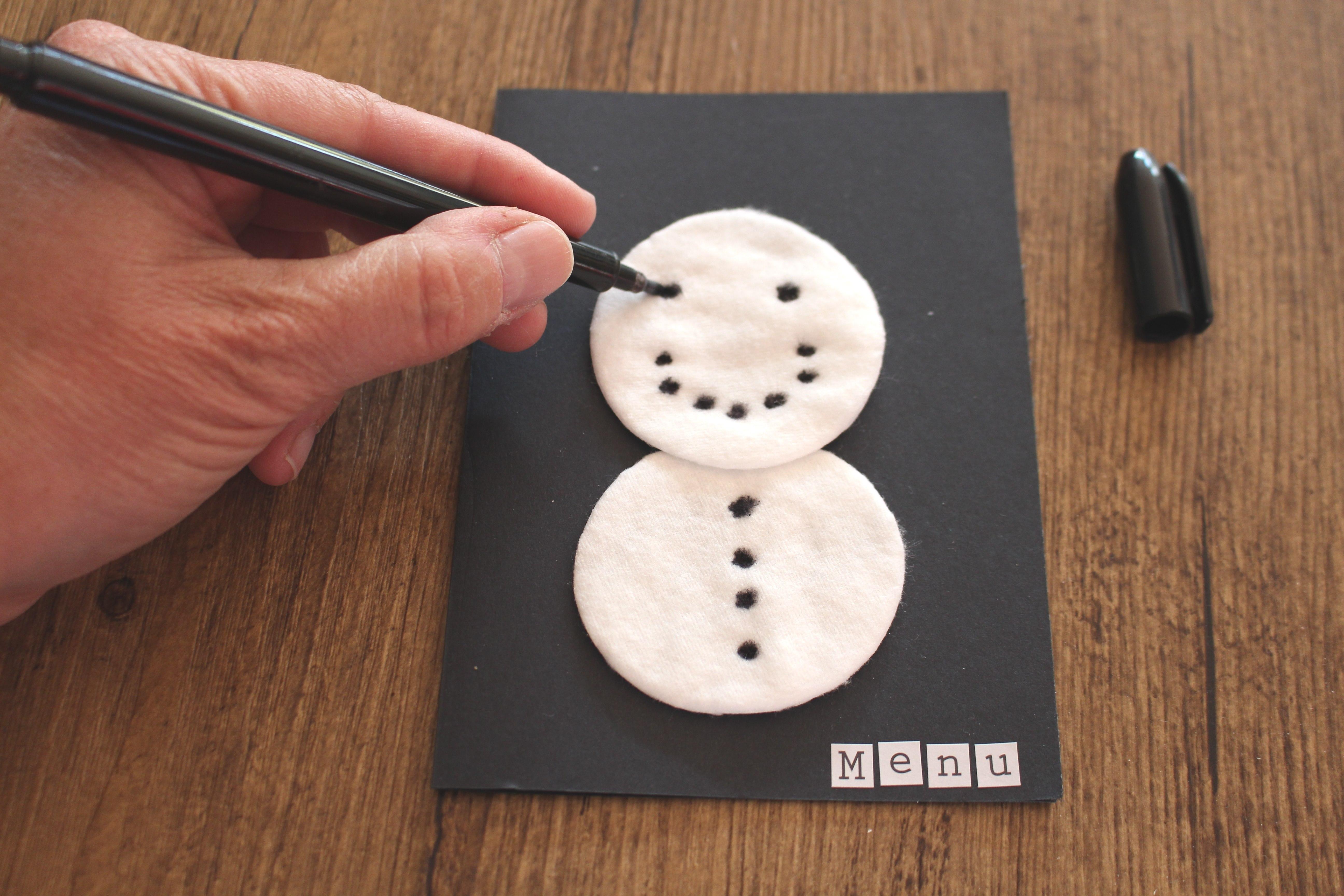 sneeuwpop van wattenschijfjes christmaholic