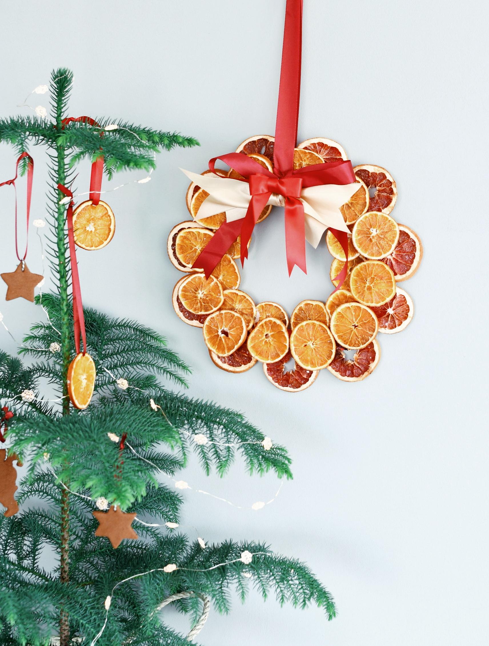 kerstkrans gedroogde sinaasappel