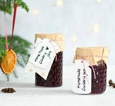 Cranberryjam in mason jar: leuk kerstcadeautje!