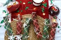 kerstspulletjes traditioneel tartan