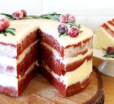 Red velvet kerstcake: de ultieme feesttaart