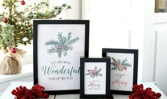 free printable kerstposters