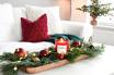 salontafel versieren voor kerst