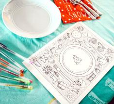 Free printable ☆ kinderplacemat om in te kleuren
