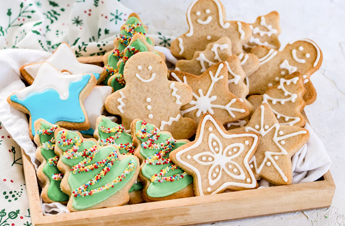 kerstkoekjes met glazuur bakken