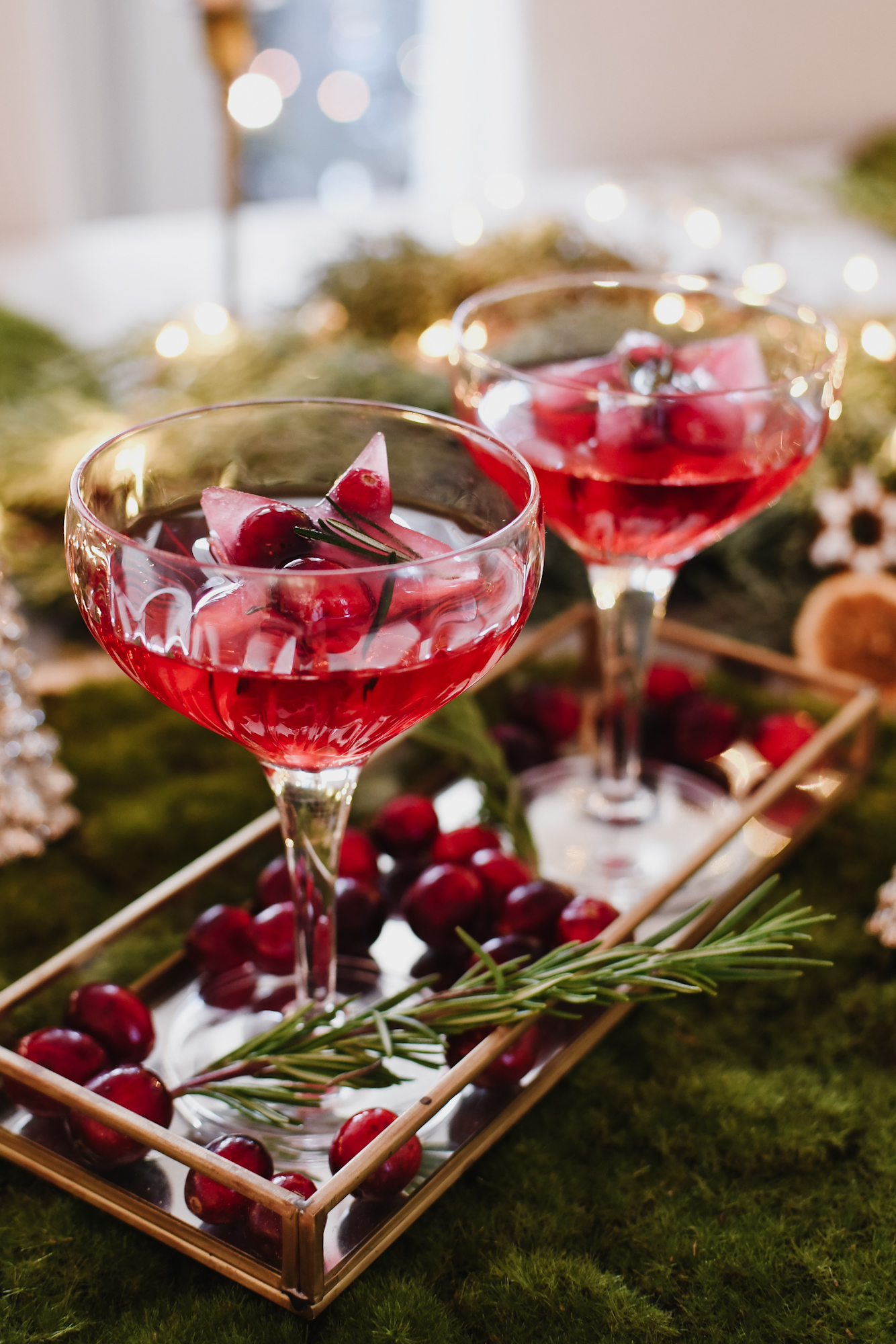 kerstcocktail met champagne
