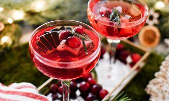 kerstcocktail cranberrysap