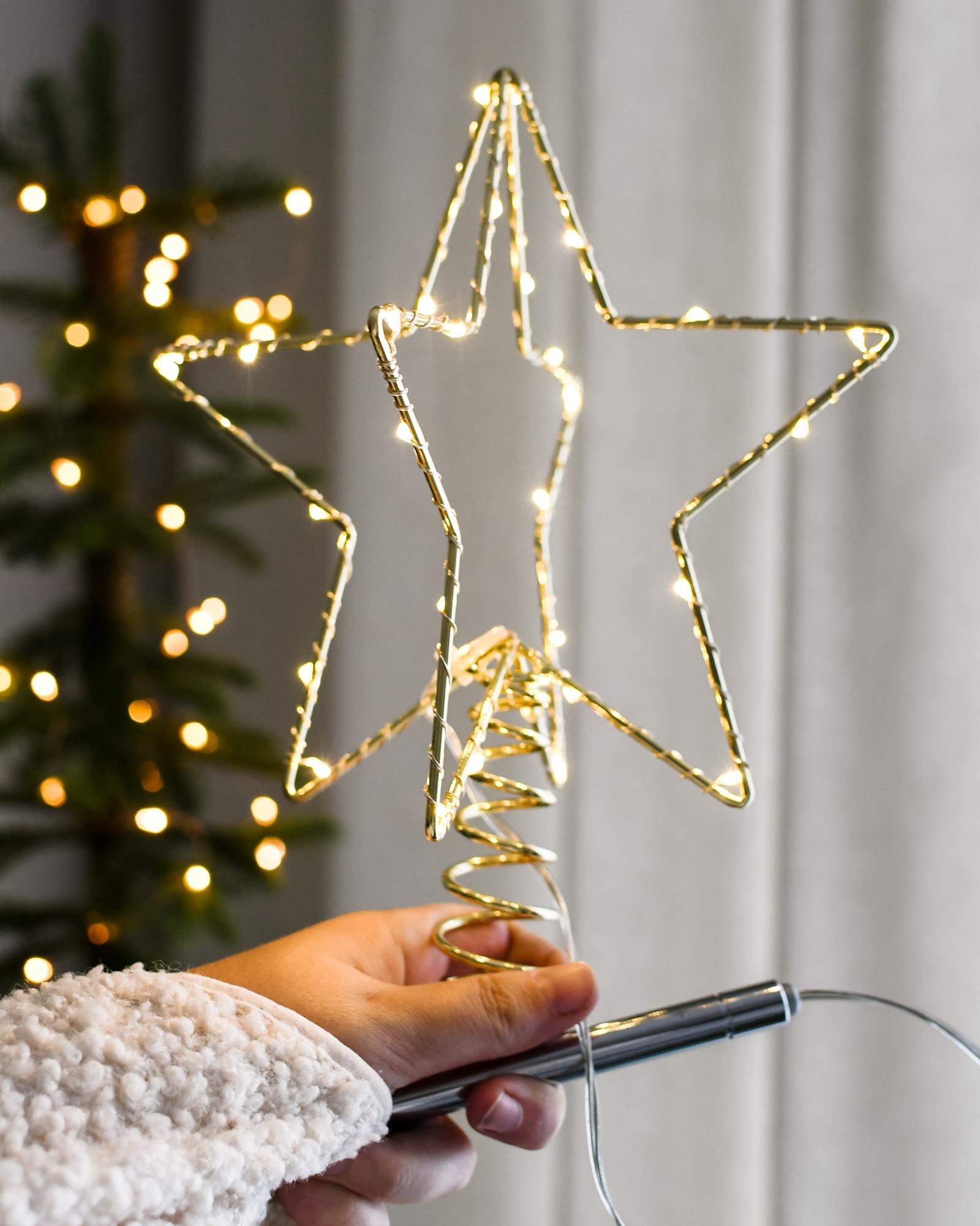 ster pieken - stervormige kerstboompieken
